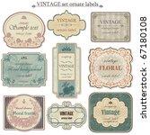 vintage vector set labels | Shutterstock .eps vector #67180108