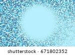 light blue vector modern... | Shutterstock .eps vector #671802352