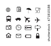 travel icons set. vector | Shutterstock .eps vector #671810188