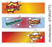 comics template. vector comic... | Shutterstock .eps vector #671814772