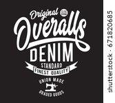 denim overalls typography  tee... | Shutterstock .eps vector #671820685