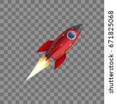 Rocket  Icon. Vector...