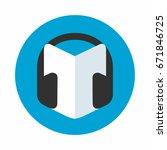 audio books symbol  headphone... | Shutterstock .eps vector #671846725