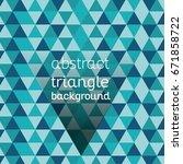 vector  modern triangle... | Shutterstock .eps vector #671858722