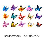 big collection of colorful... | Shutterstock .eps vector #671860972