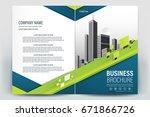 vector brochure layout  flyers... | Shutterstock .eps vector #671866726