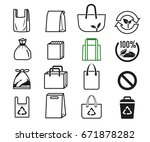 shopper used different bag... | Shutterstock .eps vector #671878282