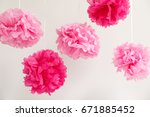 Paper Flowers At The Girl Baby...