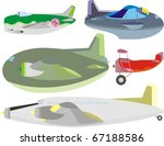 cargo  passenger and fighter... | Shutterstock . vector #67188586