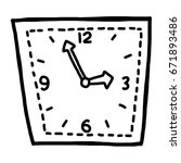 clock   cartoon vector and... | Shutterstock .eps vector #671893486