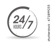 round the clock  24 7 service... | Shutterstock .eps vector #671899255