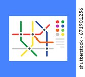 subway map  metro map. modern... | Shutterstock .eps vector #671901256
