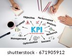 kpi key performance indicator... | Shutterstock . vector #671905912