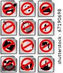 warning sign | Shutterstock .eps vector #67190698