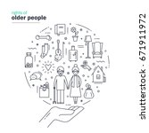 rights of older people. modern... | Shutterstock .eps vector #671911972
