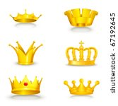 crown set on white  eps10 | Shutterstock .eps vector #67192645