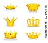 crown set on white  eps10 | Shutterstock .eps vector #67192645