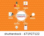 marketing concept | Shutterstock .eps vector #671927122