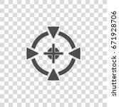 aim vector icon | Shutterstock .eps vector #671928706