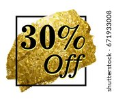 30  off sign over art brush.... | Shutterstock .eps vector #671933008