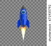 rocket  icon. vector... | Shutterstock .eps vector #671935792