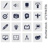 set of 16 constructive icons... | Shutterstock .eps vector #671946556