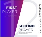 first versus second player text ... | Shutterstock .eps vector #671968372