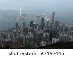 hong kong at dusk. view from... | Shutterstock . vector #67197445