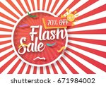 illustration of flash sale... | Shutterstock .eps vector #671984002