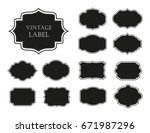 vector vintage labels.grunge... | Shutterstock .eps vector #671987296