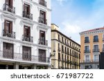 traditional antique city... | Shutterstock . vector #671987722