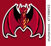 The Angry Red Dragon Mascot...