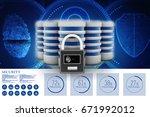 3d illustration database... | Shutterstock . vector #671992012