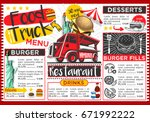food truck festival vector menu ... | Shutterstock .eps vector #671992222
