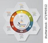 abstract 6 steps modern... | Shutterstock .eps vector #671993512