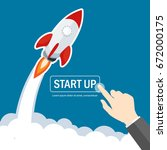 rocket start up launch... | Shutterstock .eps vector #672000175