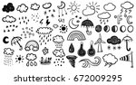 weather signs | Shutterstock .eps vector #672009295
