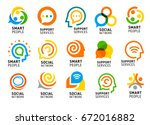 social network for smart people ... | Shutterstock .eps vector #672016882