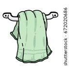 hanging towel in bathroom  ... | Shutterstock .eps vector #672020686