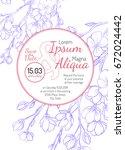 invitation bridal shower card...   Shutterstock .eps vector #672024442