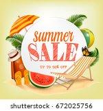 summer sale template vector... | Shutterstock .eps vector #672025756