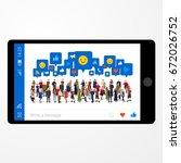 social life concept.... | Shutterstock .eps vector #672026752