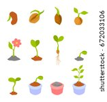 set of illustrations with... | Shutterstock .eps vector #672033106