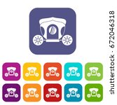 brougham icons set vector... | Shutterstock .eps vector #672046318