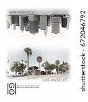 photo print new york and... | Shutterstock . vector #672046792