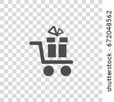 shopping cart vector icon | Shutterstock .eps vector #672048562