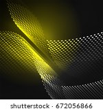 glowing particles wave design... | Shutterstock .eps vector #672056866