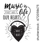 music is life.that's why our... | Shutterstock .eps vector #672058675