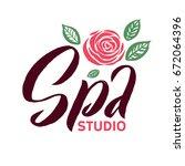 spa studio vector logo. stroke...