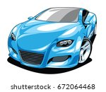 sport car  | Shutterstock .eps vector #672064468